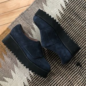 Jeffrey Campbell blue suede shoes